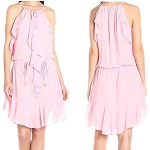 Laundry by Shelli segal chic pink ruffle dress